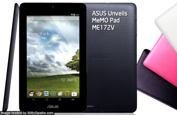 ASUS MeMO Pad ME172V - Android Tablet available in India for Rs 9999/- only