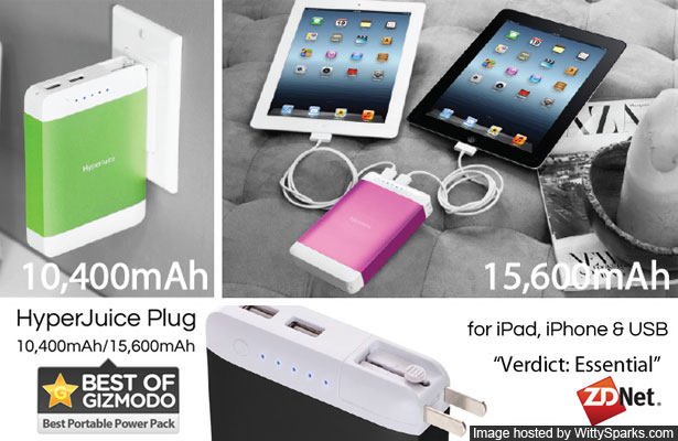HyperJuice Plug Advanced Battery for Apple iPad and iPhone