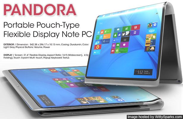 PANDORA - Portable Pouch-Type - Flexible Display Note PC Concept