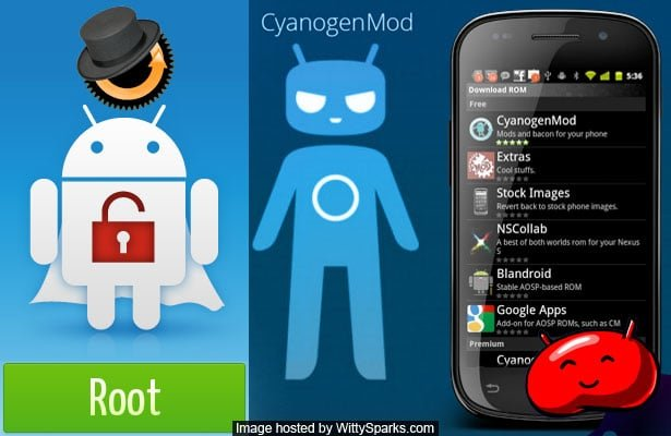 Steps to Root your Android smartphone and flash CyanogenMod custom ROM