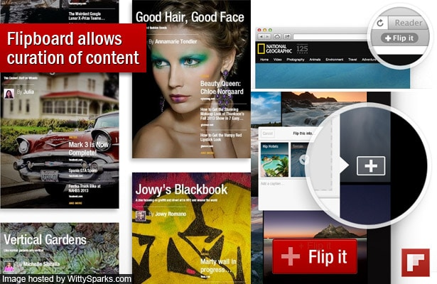 Flipboard allows you to create your own magazines