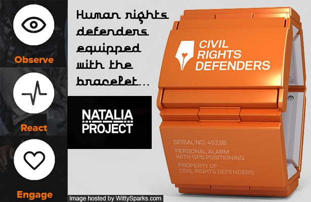 Natalia Project - Human / Civil Rights Defenders equipped with bracelet