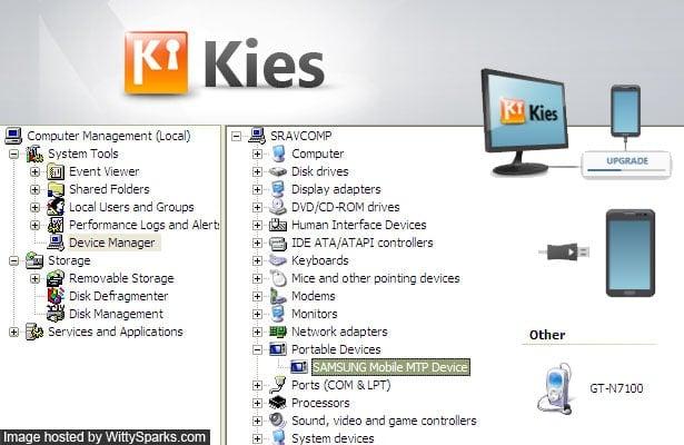 Samsung MTP USB Driver to connect Samsung Galaxy Smartphones via Kies
