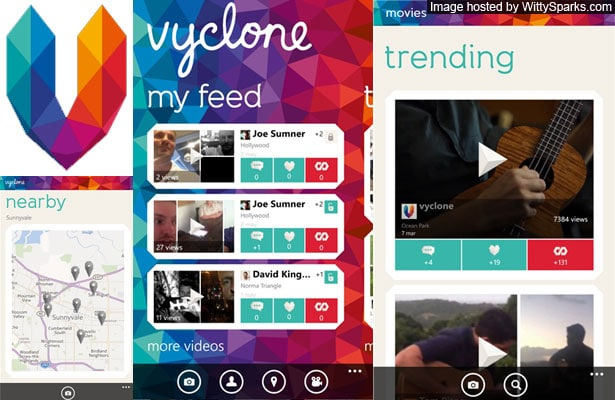 Free Vyclone for your Windows Phone - Friends, Camera and Action