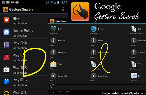 Google Gesture Search App
