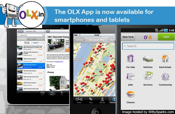 OLX.in App is available for Smartphones and Tablets