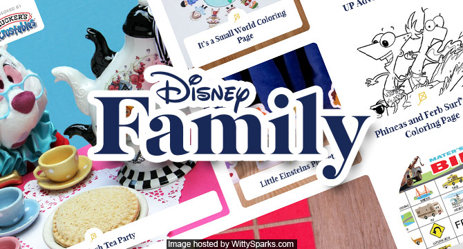 Discover and enjoy fun filled activities at the Disney Family website!
