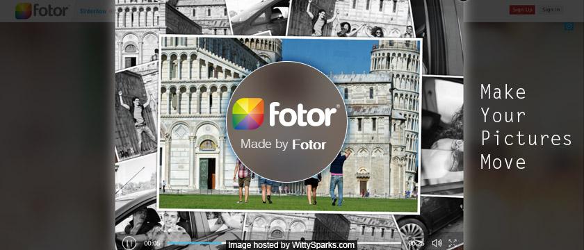 New Fotor Slideshow Maker
