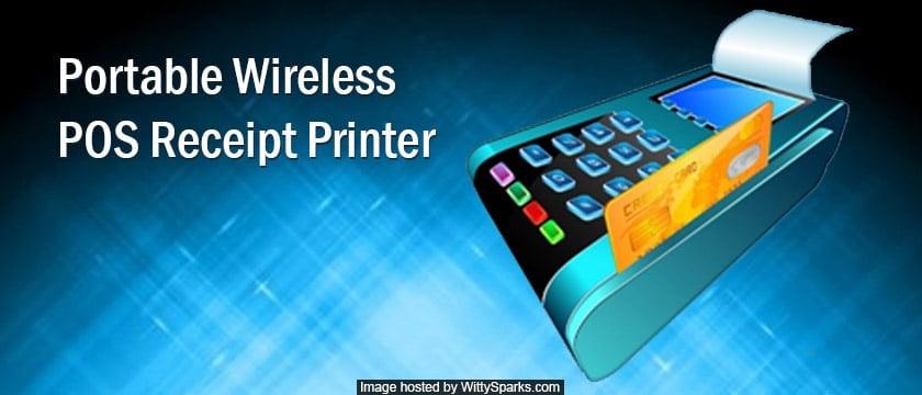Portable Wireless POS Receipt Printer