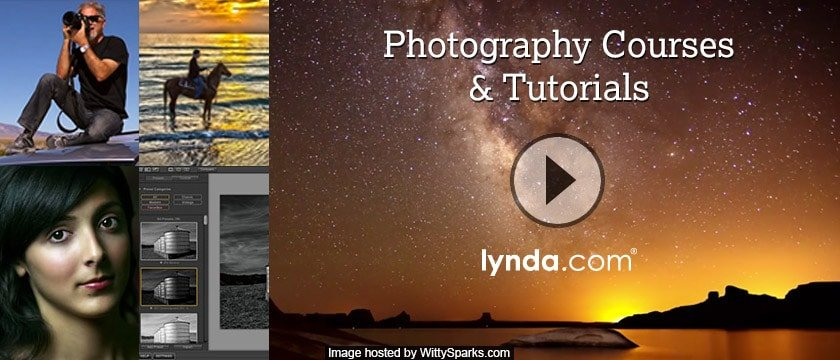Photography courses and tutorials by Lynda.com