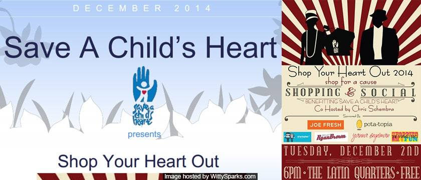 Shop to save a Child's Heart!