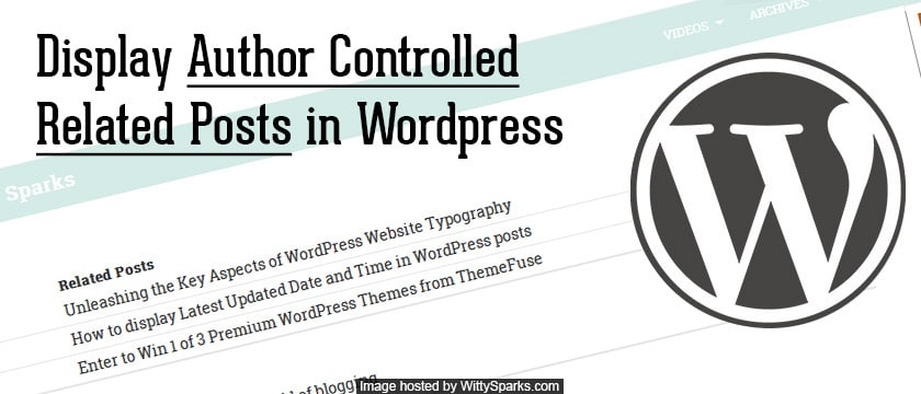 Author controlled manual related posts in WordPress