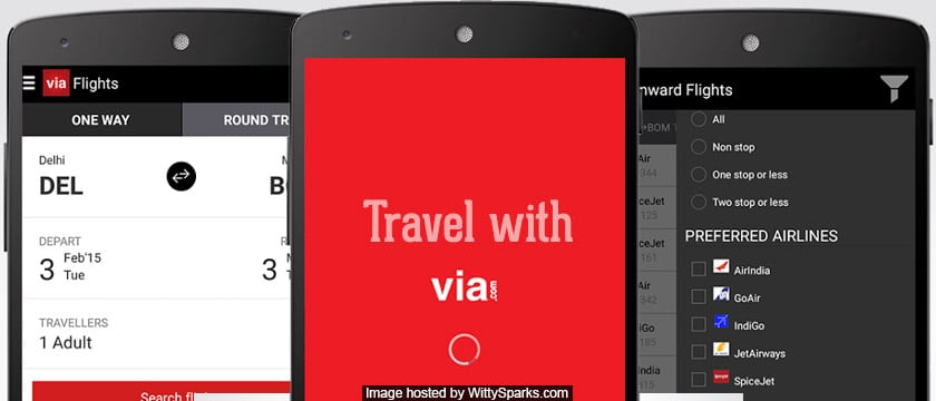 India's highest-rated travel app Via.com