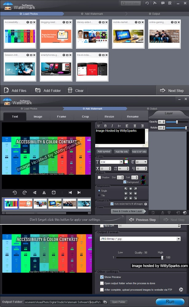 Photos or Images or Videos Watermark Software