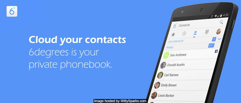 6degrees whats to organize contacts