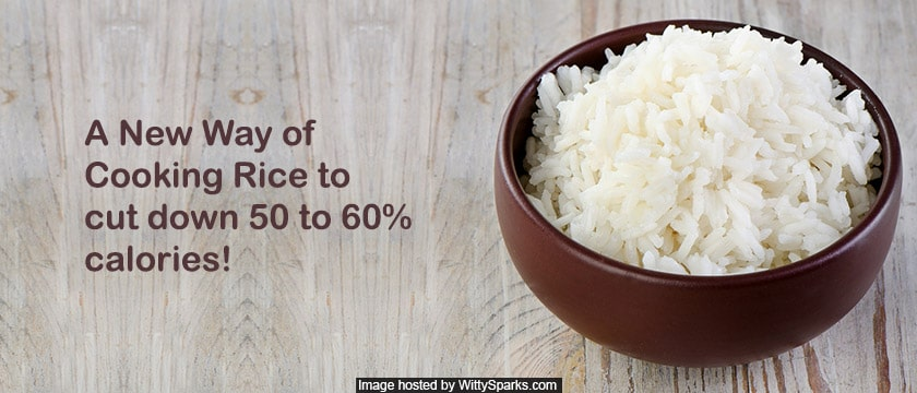 Cook rice without calories