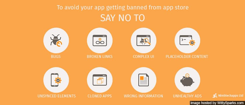 How to not getting banned in Apple App Store