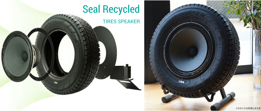 Have some loud music with Seal Recycled Tires Speaker