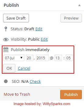 Post Scheduling - WordPress
