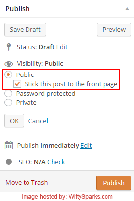 Sticky Posts feature in WordPress