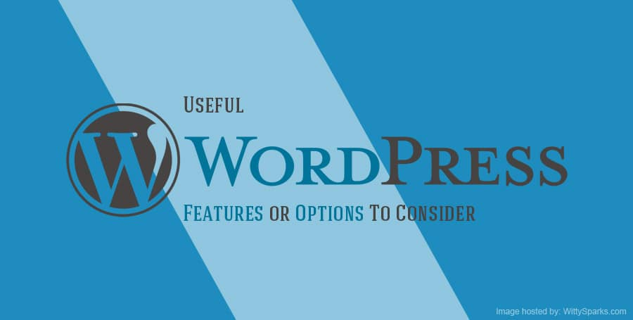 Useful WordPress Features or Options