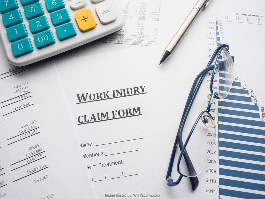 Work injury claim form - law