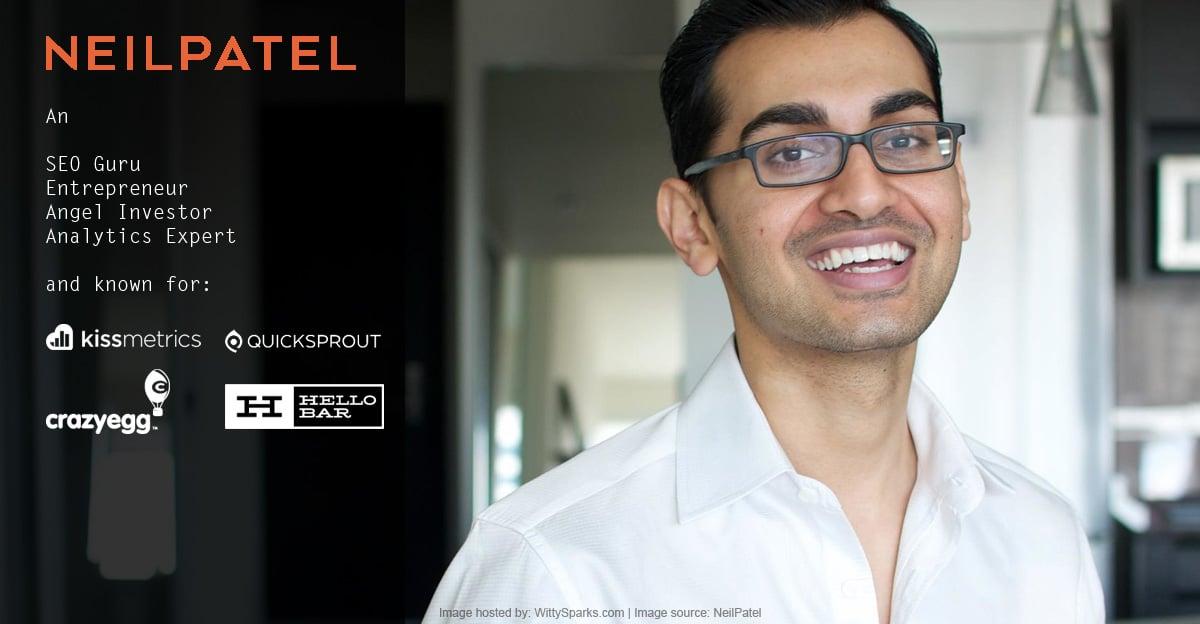 Neil Patel King of SEO & Analytics