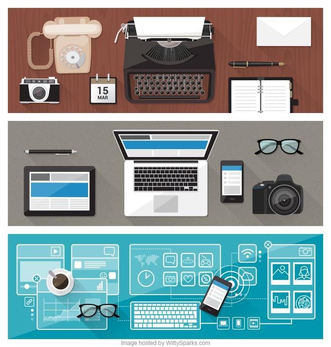 Modern desk and work environment