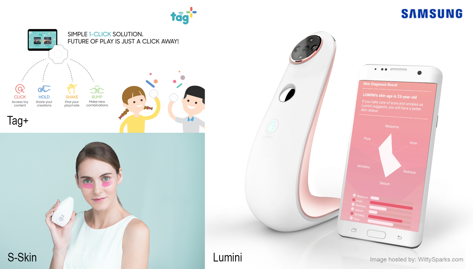 CES 2017 - Samsung C-Lab - Lumini, S-Skin, Tag+