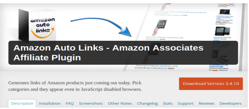 Amazon Auto Links WordPress Plugin