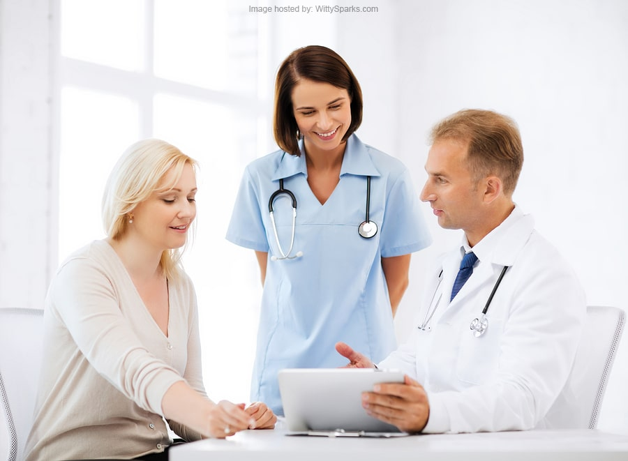 Healthcare, medical and technology - doctor