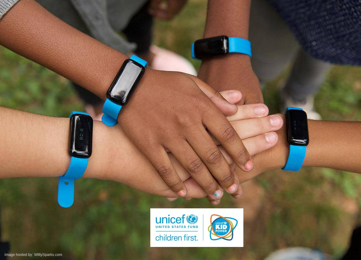 The UNICEF Kid Power Band