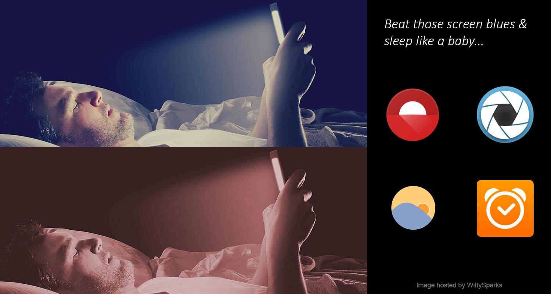 Avoid blue light for better sleep