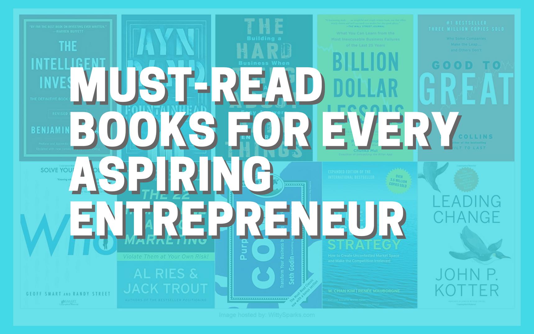 Must-Read Books For Every Aspiring Entrepreneur