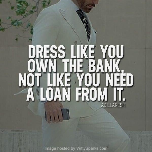 Business Dressing Quote - Adil Laresh