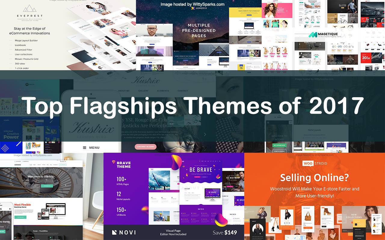 Top flagship WordPress and Joomla themes