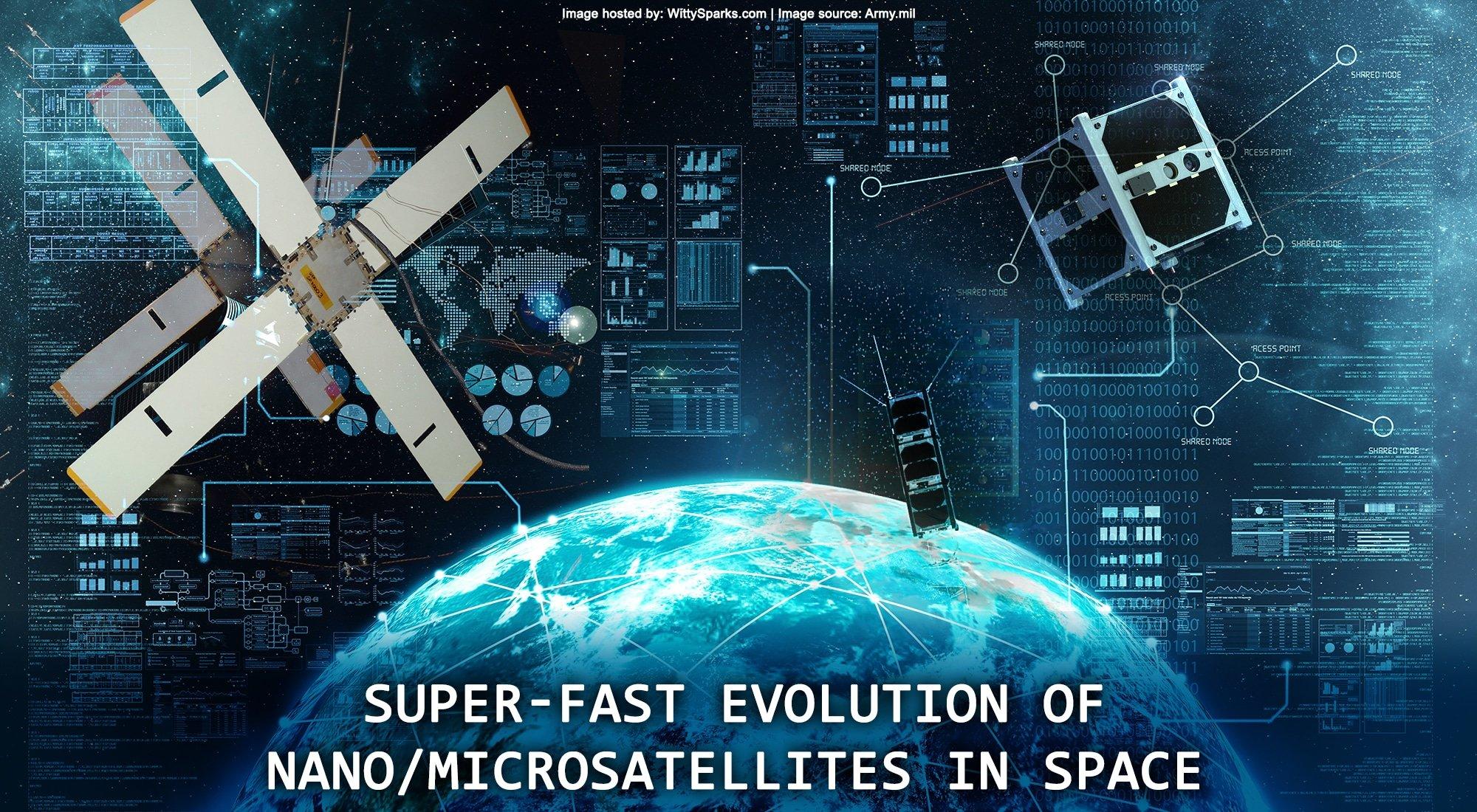 Super-fast Evolution of Nano/Microsatellites in Space