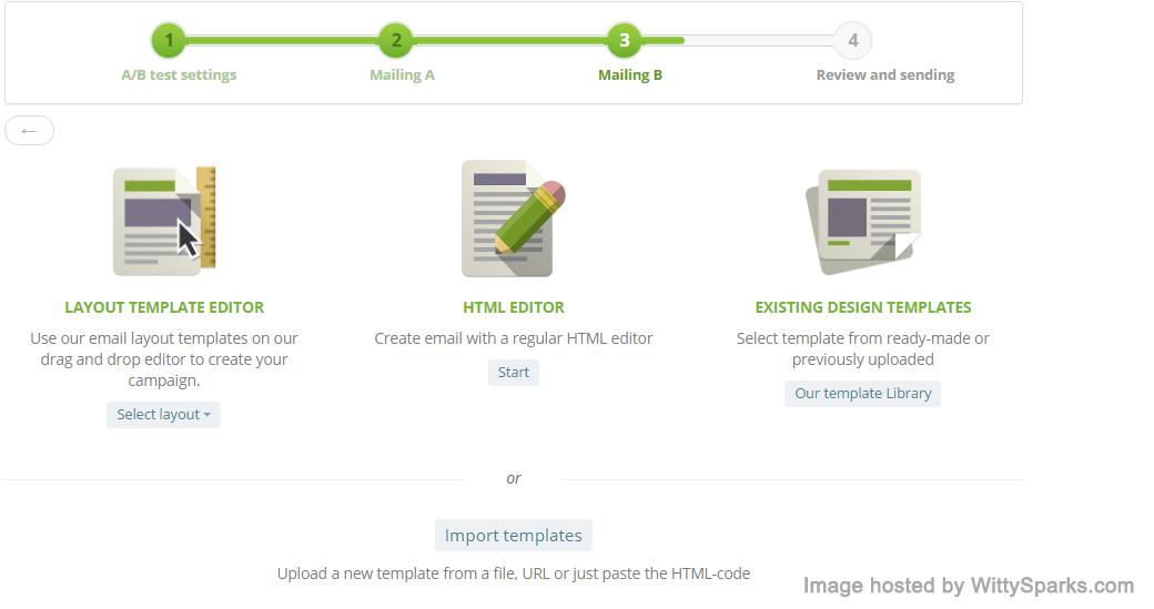 SendPulse - AB test design process