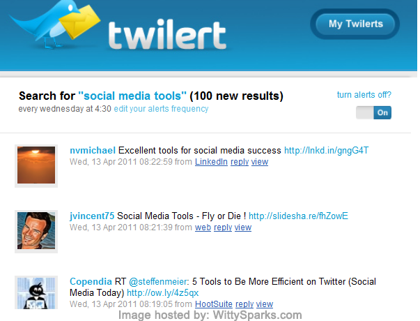 Twilert: Twitter Search | Email Alerts & Tweet History