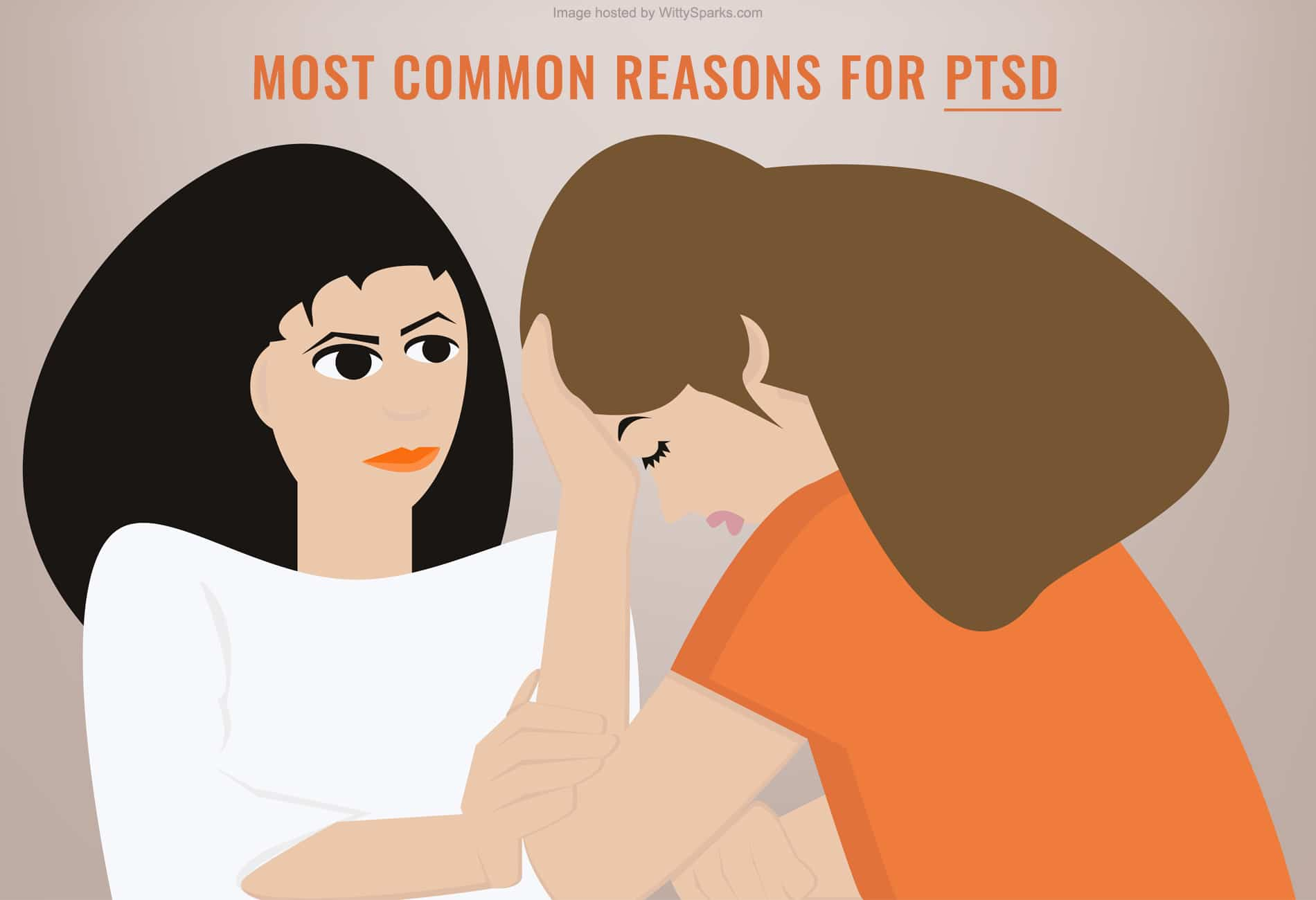 Common reasons for Post-traumatic stress disorder