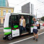 Self driving bus line opening in Tallinn