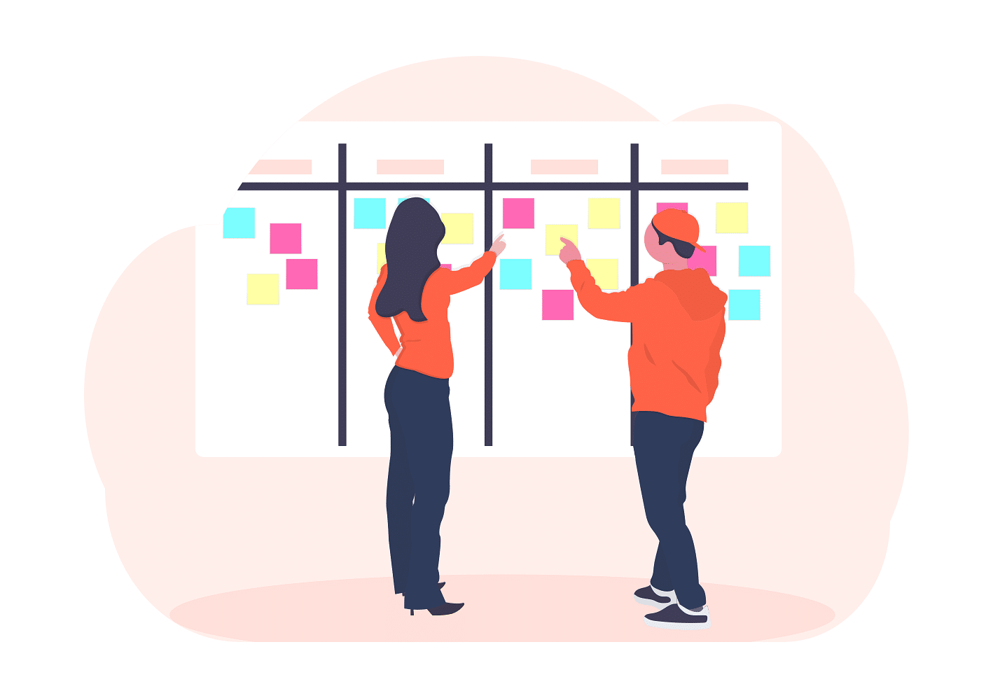 Preparation and planning - scrum board