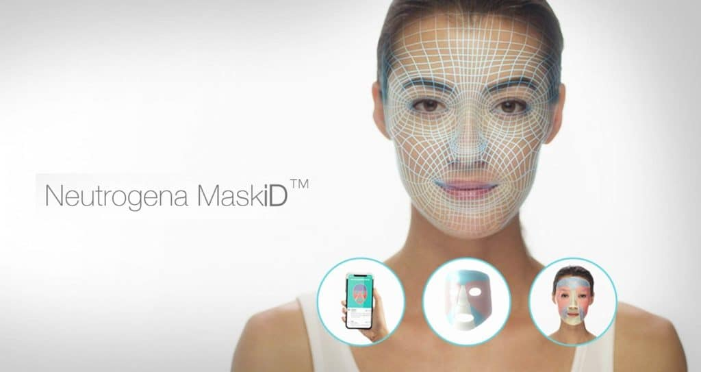 """Neutrogena MaskiDâ""""¢ - The first and only personalized micro-3D printed face mask delivered right to your door."""