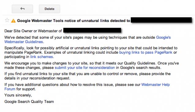 Unnatural links detected