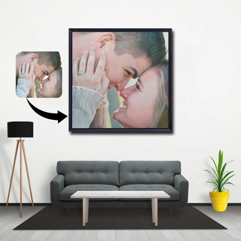 Couple Oil Painting Portrait Photo Frames