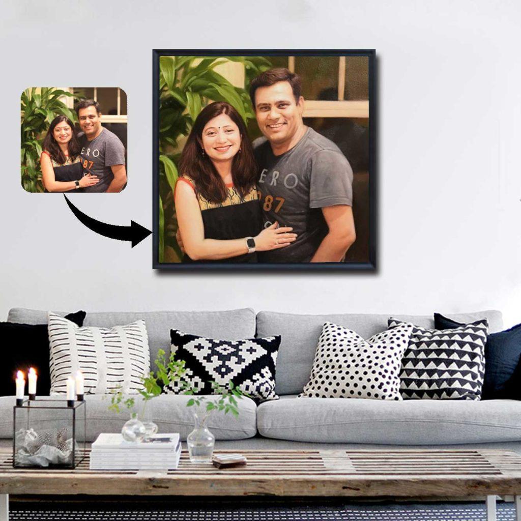 Couple Oil Portrait Photo Frames