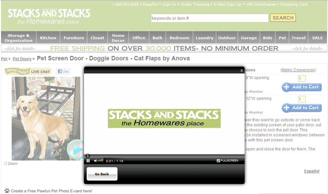 Stacks and Stacks Video Conversion - Image source: Can Product Videos Increase Conversion Rates?