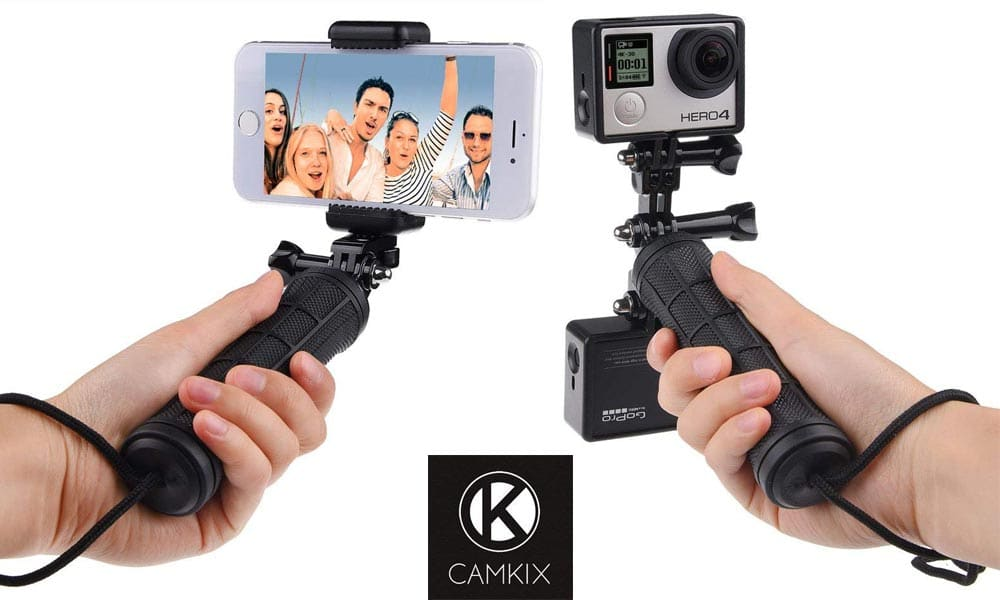 CamKix Stabilizing Hand Grip with Dual Mount, Tripod Adapter and Universal Phone Holder for GoPro Hero