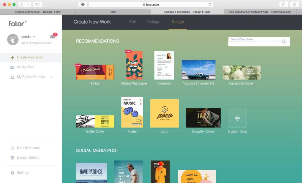 Fotor Design Social Media Banners