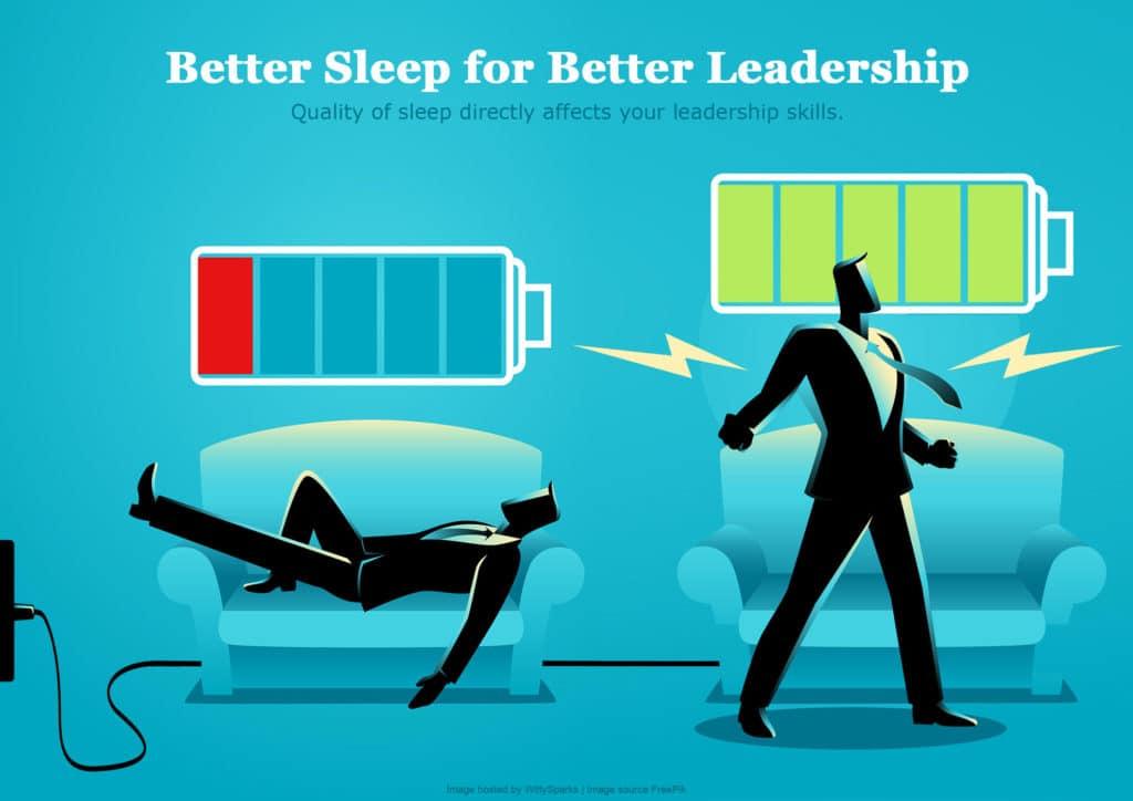 Better sleep better leadership